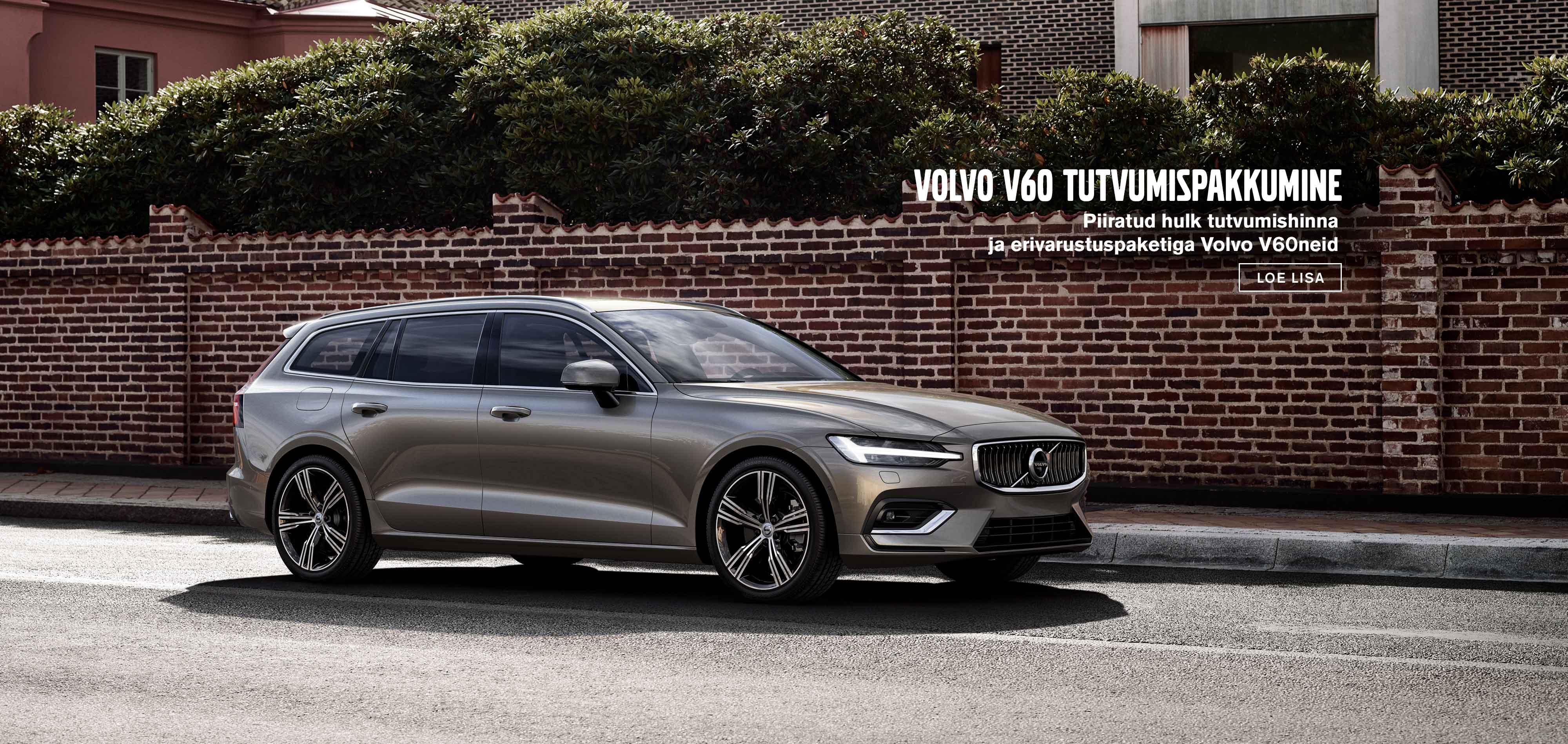 Volvo V60 tutvumispakkumine