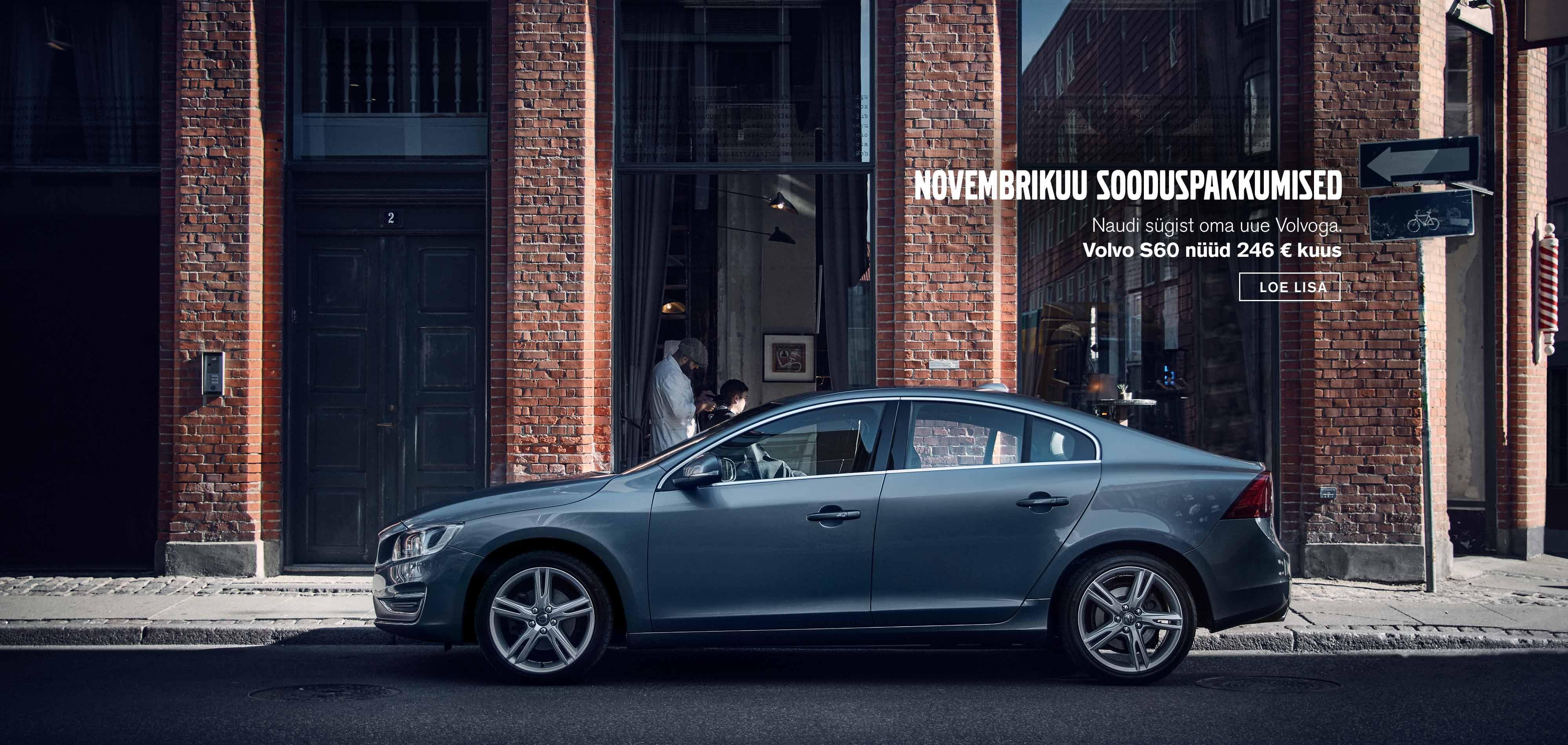 Volvo S60 novembrikuu sooduspakkumised