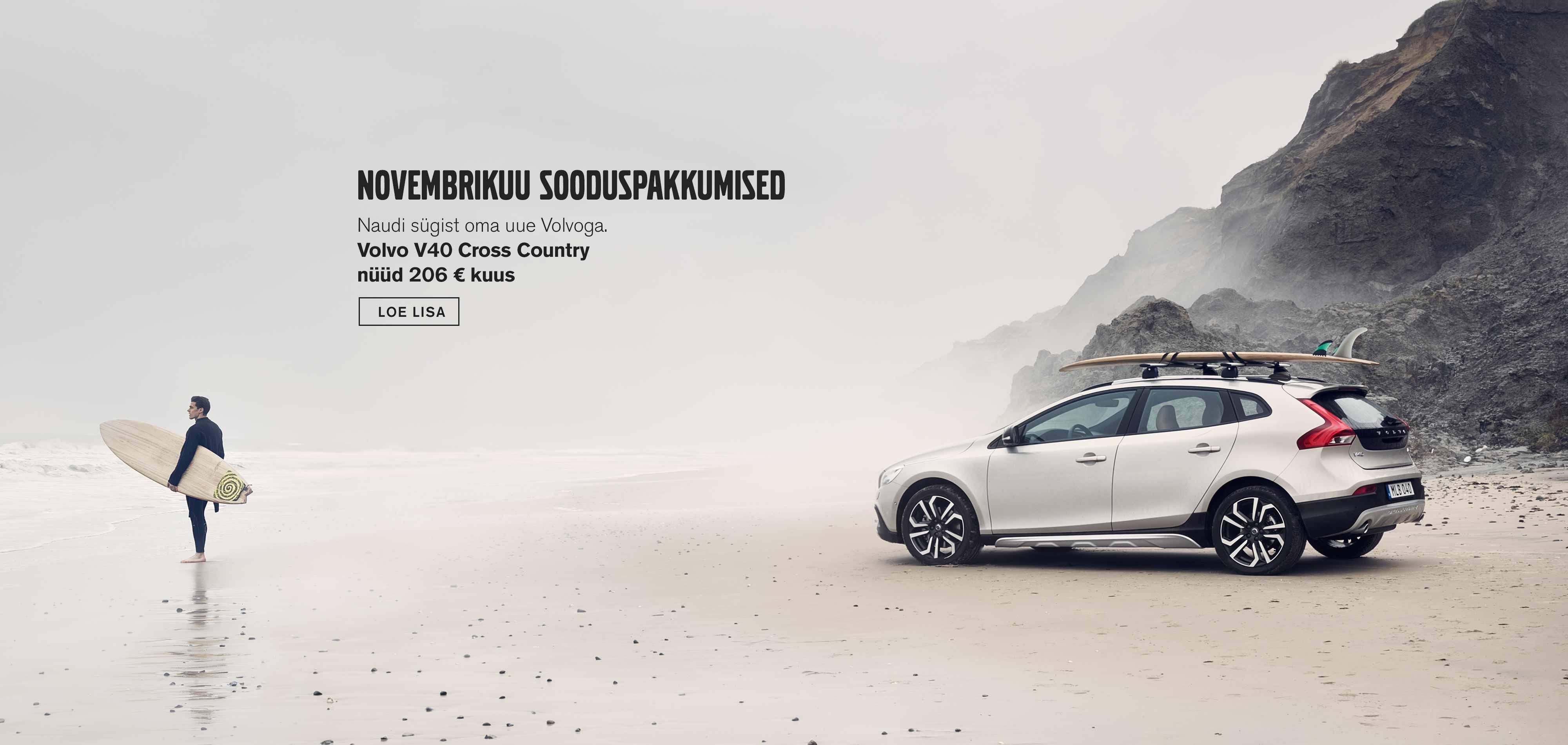 Volvo V40 Cross Country novembrikuu sooduspakkumised