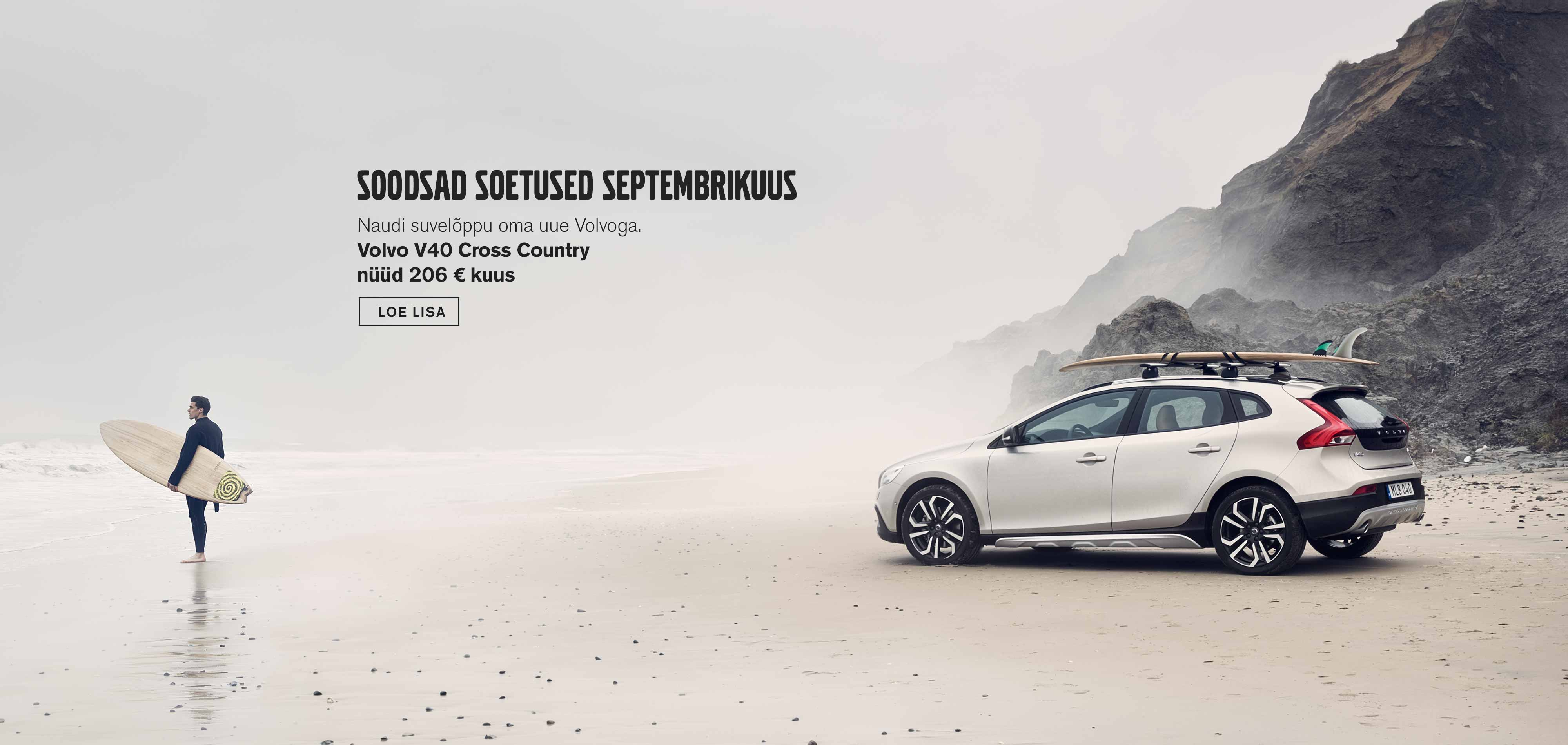 Volvo V40 Cross Country septembrikuu sooduspakkumised