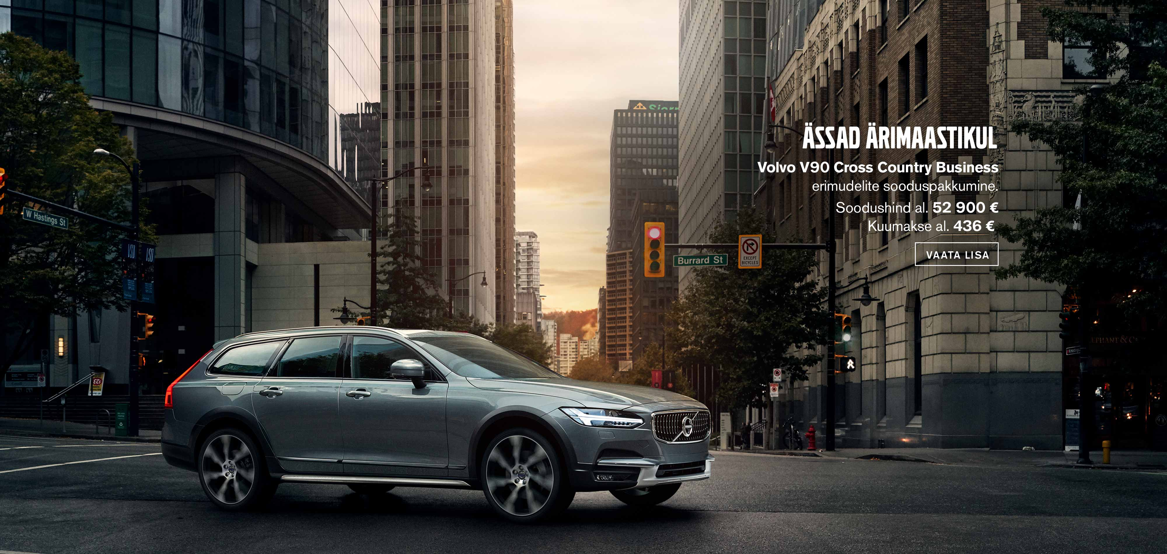 Volvo V90 Cross Country Business erimudelid